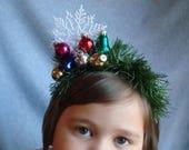 Christmas Headband Snowflake Ornament Headband Hair Party Accessories Ugly Christmas Free Shipping Snow Flake Hair Xmas Winter Holiday Hair