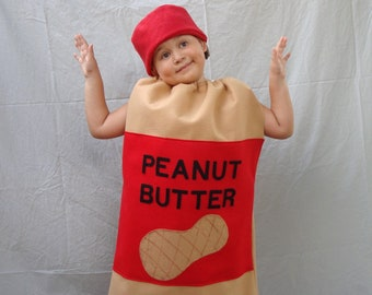 Ready To Ship!  Guaranteed Delivery before Halloween... Fits 6-12 Month Size Peanut Butter Costume with Hat... Baby Infant Toddler Halloween