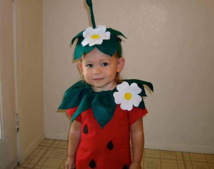 Kids DIY Strawberry  Do It Yourself Kids Costume  Halloween Costume  Strawberry Costume