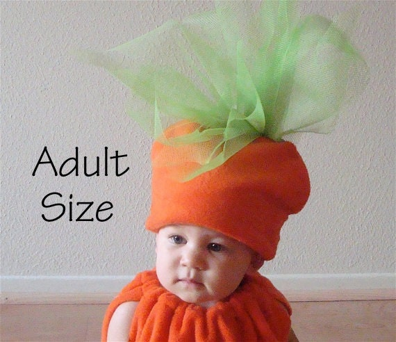 Carrot Costume Novelty Hat Cosplay Photo Prop for Easter Carnival Themed Parties