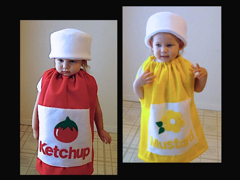 Baby Halloween Costumes Boy And Girl.Baby Twin Costumes Ketchup And Mustard Halloween Costume Purim Couple Twin Set Girl Costume Boy Costume Toddler Newborn Infnat Children Fun