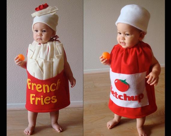Baby Kostume Twin Kostum Halloween Kostume Fastfood Ketchup Etsy