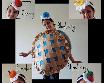 Headband ONLY-  Ready to Ship... Yummy Whipped Cream and Fruit Headband Pie Blueberry Strawberry Cherry Lemon Pumpkin