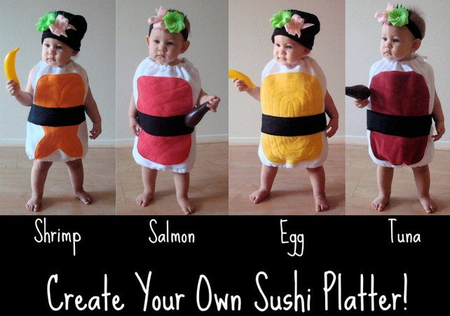 hat only free shipping sushi halloween costume hat with wasabi ginger sushi grass baby kids teen adult diy