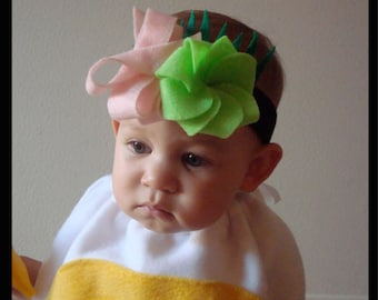 HEADBAND ONLY... Free Shipping... Ready to Ship!  Sushi Halloween Costume Headband with Wasabi Ginger Sushi Grass Baby Kids DIY