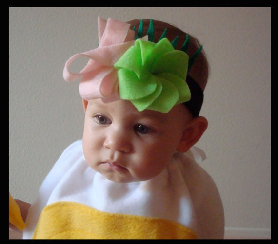 Sushi Costume Headband with Wasabi Ginger Sushi Grass Baby Kids DIY