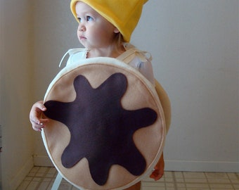 Kids Costume Childrens Costume Pancake Halloween Costume Pancakes with Syrup and Butter Carnaval Carnival Karneval Purim Fancy Dress