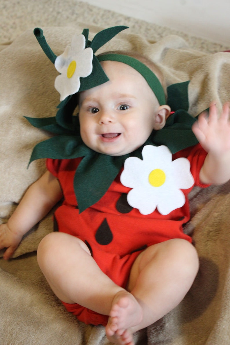 1cecea604 Baby DIY Strawberry Do It Yourself Baby Costume Halloween | Etsy