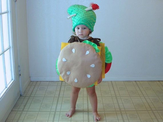 sc 1 st  Etsy & Baby Costume Cheeseburger Hamburger Halloween Costume Dress Up
