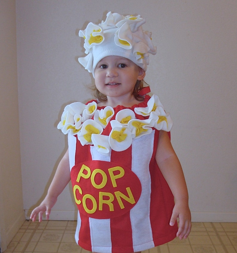 a17dab860bca2 Kids Costume Popcorn Box Halloween Costume Photo Prop Toddler Childrens  Food Dress Up