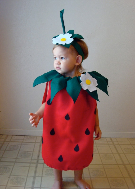 sc 1 st  Etsy & Baby Costume Strawberry Costume Halloween Costume Infant