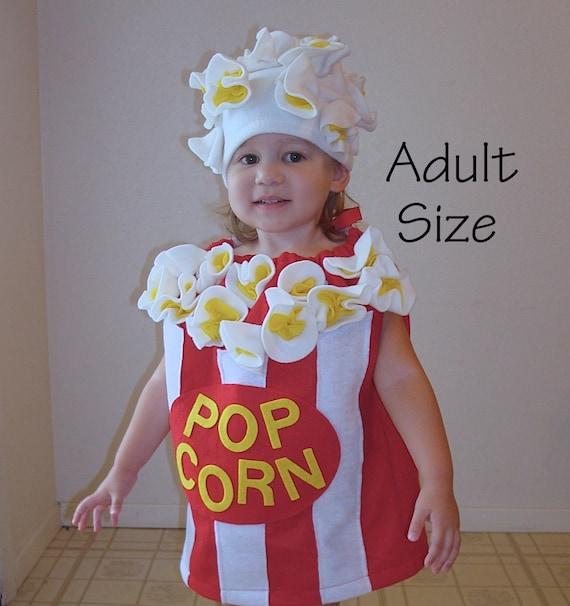 sc 1 st  Etsy & Adult Costume Teen Womens Mens Popcorn Box Halloween Costume