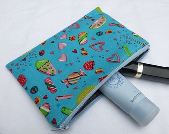 Small pouch in fun sweetie print - SALE