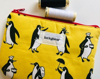 Small yellow penguin pouch