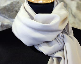 Cheap thin collection. Shawl, scarf or square Beige Nude chiffon