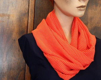 Red Viscose Mousseline scarf at Point Blanc. Laine tartine accessories woman
