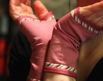 Fingerless Gloves Color Stripes