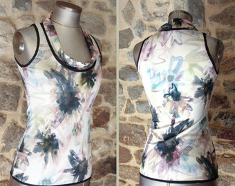 T-Shirt tank top dusty Rose - beige - Taupe Top sleeveless Cotton Jersey. Size 40