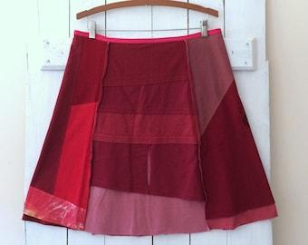 Handmade Skirt   Size XXLARGE (16/18)   Cotton Jersey Skirt   T-Shirt Skirt   100% Cotton   Upcycled   Refashion   Handmade in Maine   USA