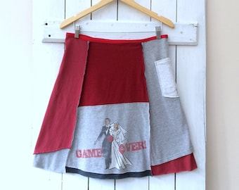 Upcycled Skirt   Size XLRG (14/16)   T-Shirt Skirt   Cotton Jersey Skirt   100% Cotton   Eco Sustainable Clothing   Handmade in Maine   USA
