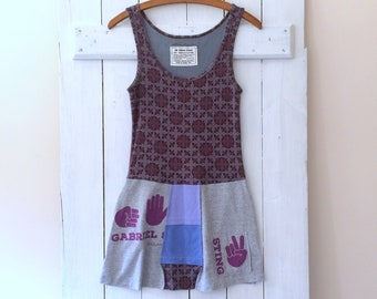 Cotton Jersey T-Dress | Size XSMALL | Upcycled T-Shirt Dress | Eco Friendly | Sustainable Clothing | Tank Dress | Handmade in Maine | USA