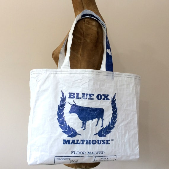 Recycled Beer Maker Gift Upcycled Grain Bag Tote Tote Bag Beer Lover Gift Handmade Eco-Friendly Shopping Bag Made in Maine