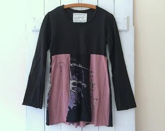 Cotton Jersey T-Dress | Size MEDIUM | Upcycled T-Shirt Dress | Eco Friendly | Sustainable Clothing | Tunic Dress | Handmade in Maine | USA