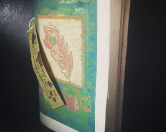 Tree Free Handmade Paper 40 Page Journal - Peacock