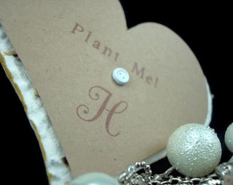 Personalized Handmade Wildflower Seeded Paper Heart Wedding Favors - 50 - 3 inch