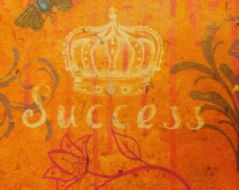 SUCCESS - Papers of Intention - handmade paper art full of intentions - to be burned or buried with attached prayer
