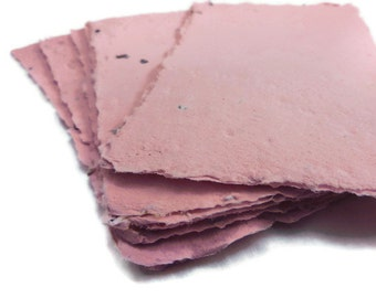 Eco-Friendly Tree Free Handmade Paper ~ Wildflower Seeded Handmade Paper Sheets - 10 Count ~ Any Shade