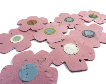 Wildflower Seeded Handmade Paper Flower Favors - 20 count - 3 inch