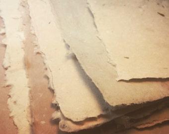 Handmade Paper - Cotton Abaca Mix - Tree Free - Mica and Metallics - 10 sheets