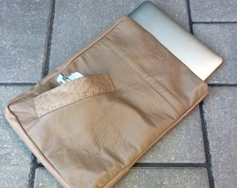 Reclaimed leather Laptop sleeve