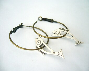 fish earrings, nautical jewelry