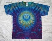 tie dye, large youth tee, ice dye, grateful dan dyes, inkblot ice dye, funky spider dyes, kids tie dye