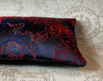 Lavender and Flax seed eye pillow in Chinese Dragon and Roses brocade