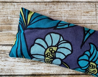 Lavender and Flax seed eye pillow in Floral Tropical cotton print