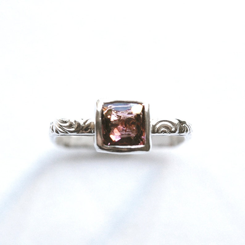 Cushion Spinel Ring in Square Bezel Setting Size 6 image 0