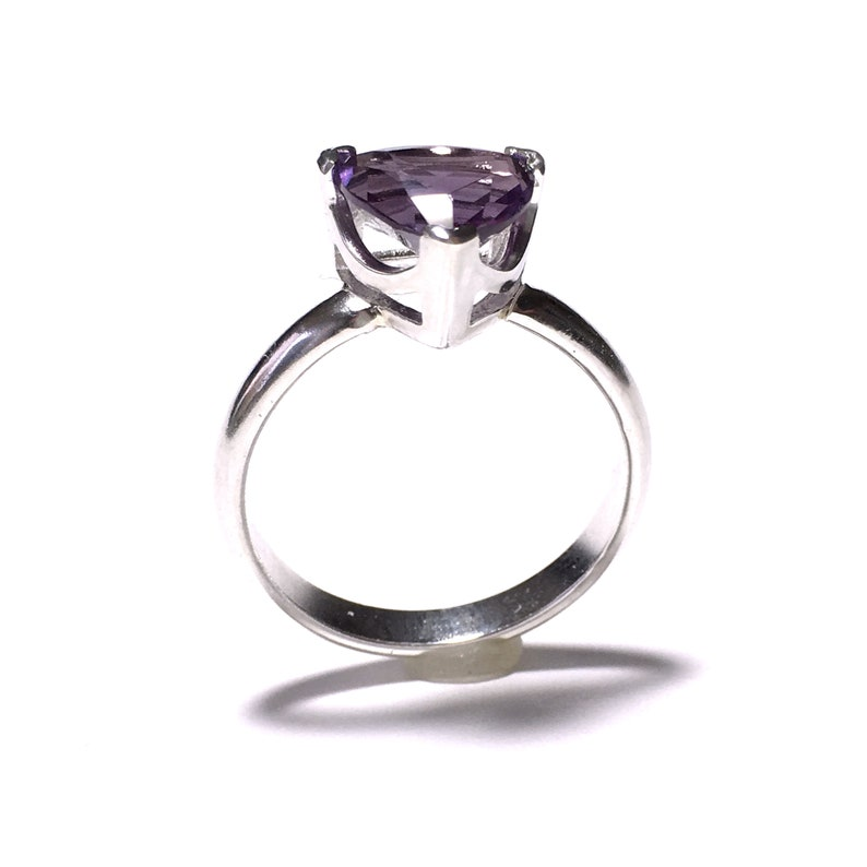 Alexandrite Silver Ring Made to order in your size image 0