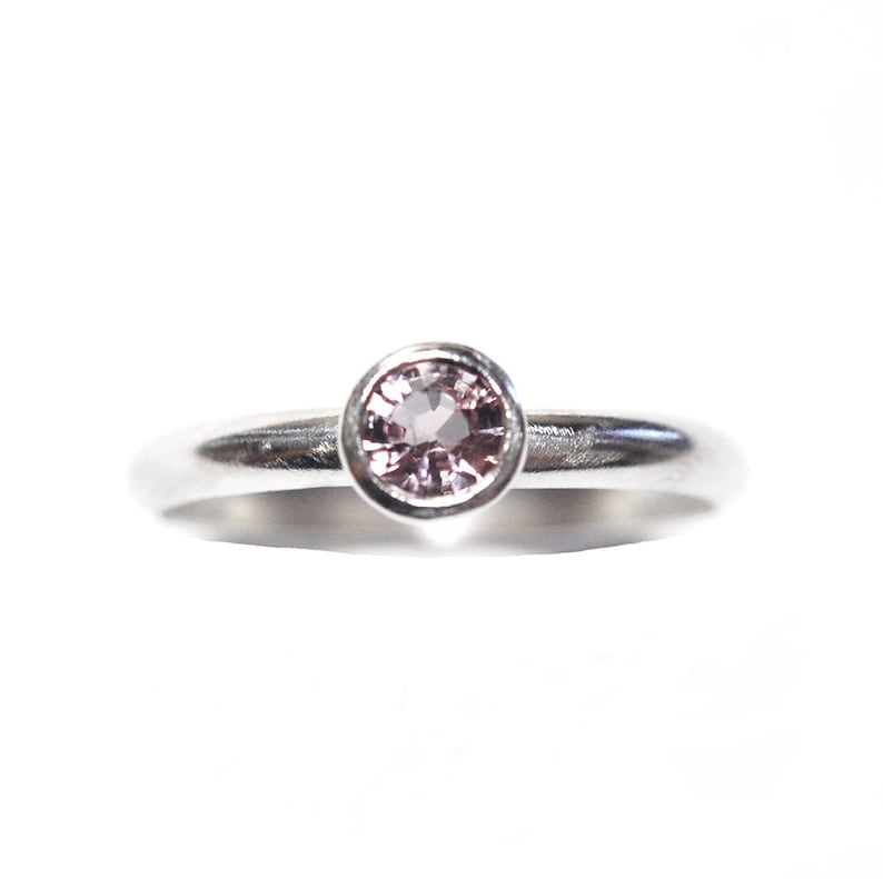 Pink Spinel Ring in Sterling Size 8 image 0