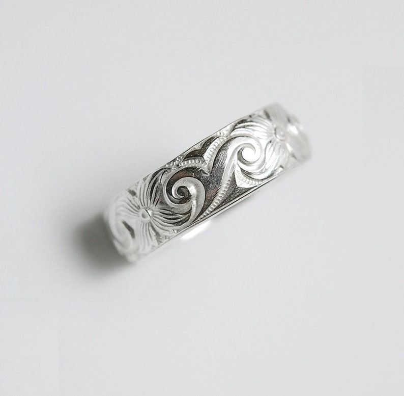 Wide Silver Band Ring Engravable image 0
