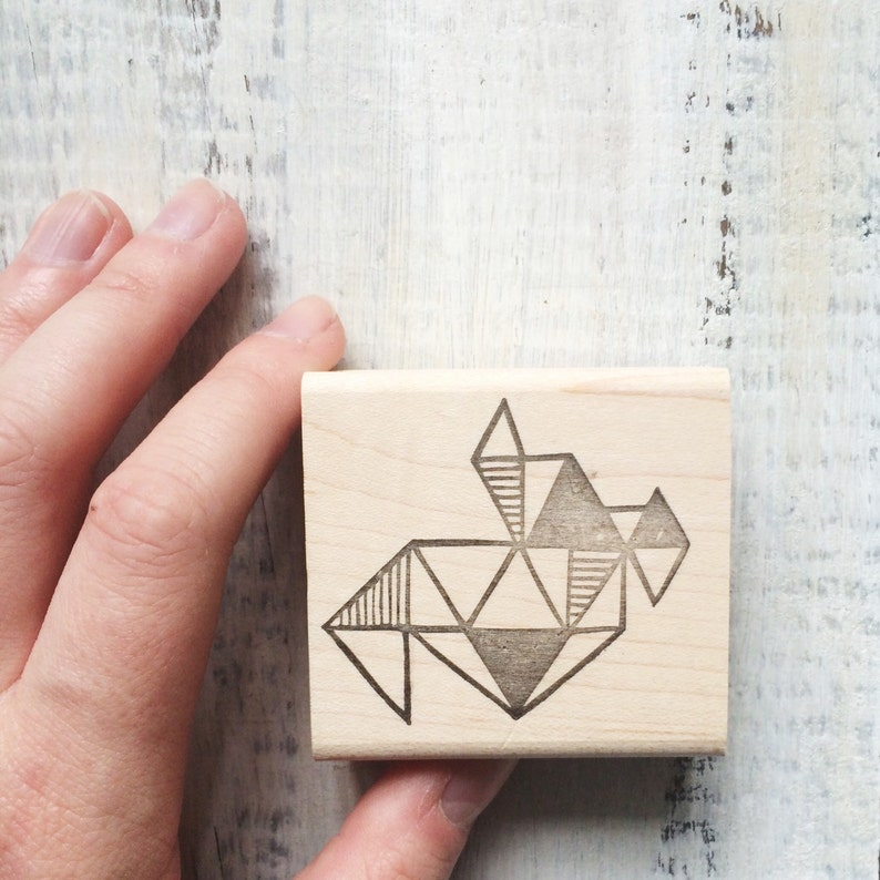Triangle Abstraction Rubber Stamp by Brown Pigeon and Tusk and image 0