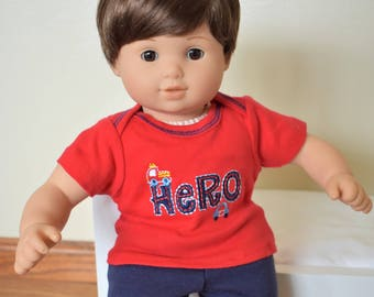 "15"" Doll Hero Outfit for American Girl Doll Bitty Baby"