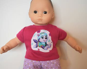 "15"" Doll Paw Patrol Outfit for American Girl Doll Bitty Baby Twins"