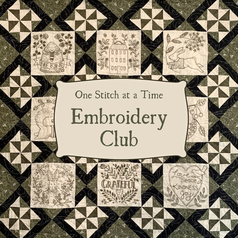 One Stitch at a Time Hand Embroidery Subscription Club with image 0