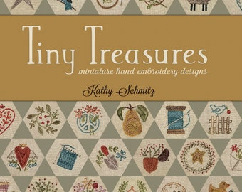 Tiny Treasures PDF miniature hand embroidery design book 72 designs and 1 wall hanging hexie pattern
