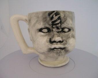 Ceramic Doll Head  Cup