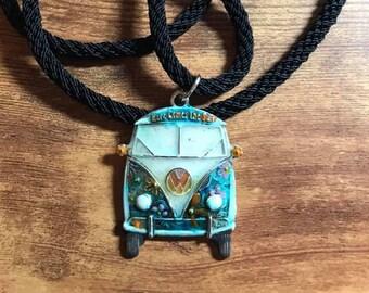 VW Hippie Van Kumihimo Necklace
