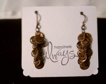 Smiley Face Copper Earrings